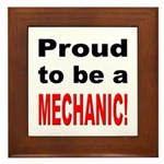 Proud Mechanic Framed Tile