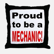 Proud Mechanic Throw Pillow