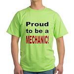 Proud Mechanic Green T-Shirt