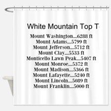 White Mountain Top Ten List Shower Curtain