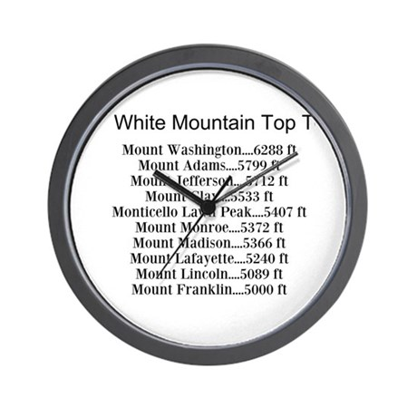 White Mountain Top Ten List Wall Clock