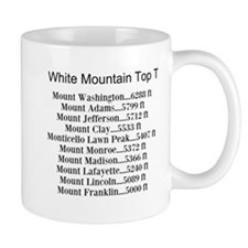 White Mountain Top Ten List Mug