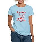 Kaitlyn On Fire Women's Light T-Shirt