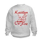 Kaitlyn On Fire Kids Sweatshirt