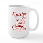Kaitlyn On Fire Large Mug