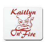 Kaitlyn On Fire Mousepad