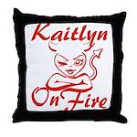Kaitlyn On Fire Throw Pillow