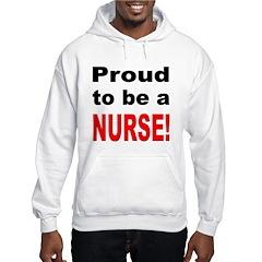 Proud Nurse (Front) Hooded Sweatshirt