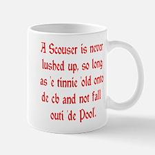 Scouser Lushed up Red Mug