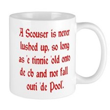 Scouser Lushed up Red Small Small Mug