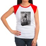 """The Black Pirate"" Women's Cap Sleeve T-Shirt"