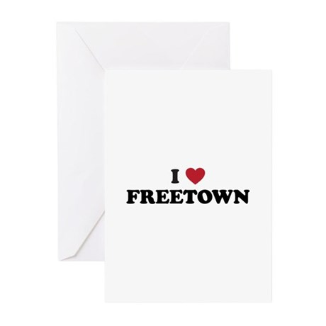 I Love Freetown Greeting Cards (Pk of 20)