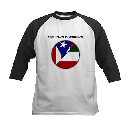 Italian / Puerto Rican Kids Baseball Jersey