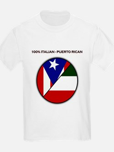 Italian / Puerto Rican Kids T-Shirt