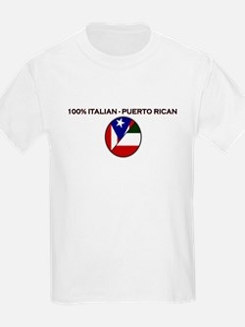 Italian / Puerto Rican Small Logo Kids T-Shirt