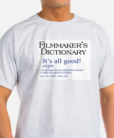 Film Dictionary: All Good! Ash Grey T-Shirt
