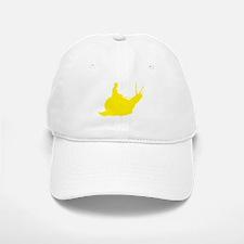 Yellow Snail Rider Baseball Baseball Cap