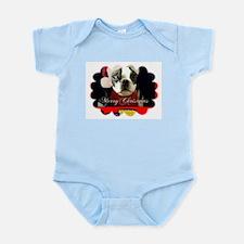 MERRY CHRISTMAS BOSTON TERRIER Infant Creeper