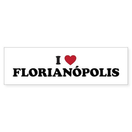 I Love Florianopolis Sticker (Bumper)