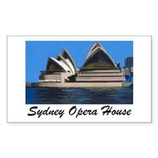 Opera House Painting Rectangle Decal