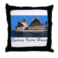 Opera House Painting Throw Pillow