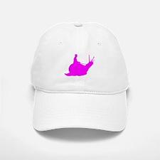 Pink Snail Rider Baseball Baseball Cap