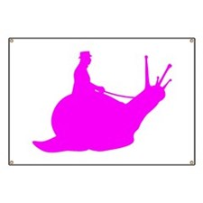 Pink Snail Rider Banner