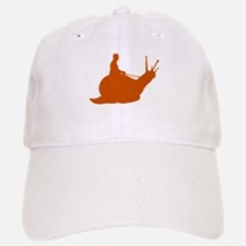 Orange Snail Rider Baseball Baseball Cap