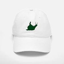 Dark Green Snail Rider Baseball Baseball Cap