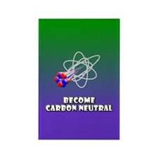 become CARBON NEUTRAL rectangle magnet (100 pack)