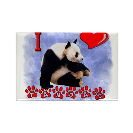 I love Pandas Rectangle Magnet
