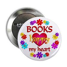 """Happy 'Books 2.25"""" Button"""