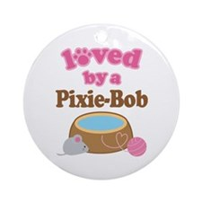 Loved By Pixie-Bob Cat Ornament (Round)