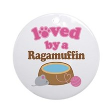 Loved By Ragamuffin Cat Ornament (Round)