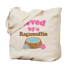 Loved By Ragamuffin Cat Tote Bag