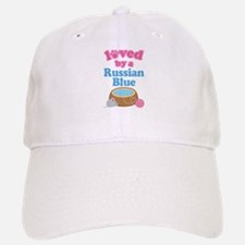 Loved By A Russian Blue Baseball Baseball Cap