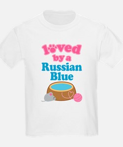 Loved By A Russian Blue T-Shirt