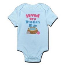 Loved By A Russian Blue Infant Bodysuit