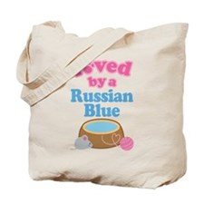 Loved By A Russian Blue Tote Bag