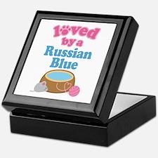 Loved By A Russian Blue Keepsake Box