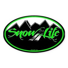 SnowLife Black Mnt Green Font Decal