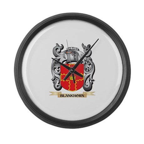 Blankhorn Family Crest - Blankhor Large Wall Clock