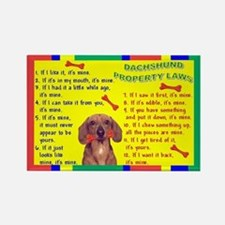 Property Laws -Dachshund,Red Magnets