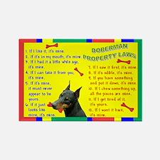 Doberman Property Laws Rectangle Magnet