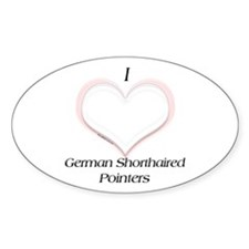 GSP Heart Oval Decal