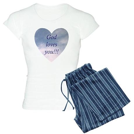 God Loves You Women's Light Pajamas