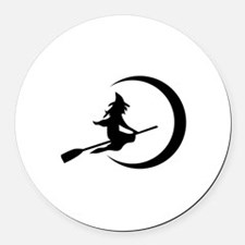 Witch Round Car Magnet