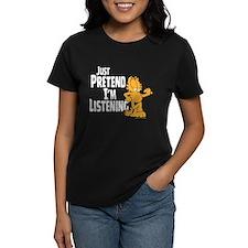 Just Pretend Women's Black T-Shirt