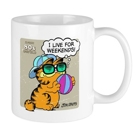Garfield I Live for Weekends Mug