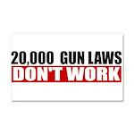20,000 Gun Laws Car Magnet 20 x 12